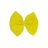 Bella Plain Colour School Uniform Hair Bow Hair Accessories 6cm PinkBerry Kisses - Lemon
