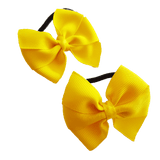 Bella Plain Colour School Uniform Hair Bow Hair Accessories 6cm PinkBerry Kisses - Maize