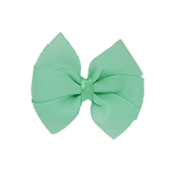 Bella Plain Colour School Uniform Hair Bow Hair Accessories 6cm PinkBerry Kisses - Mint Green