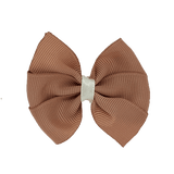 Bella Plain Colour School Uniform Hair Bow Hair Accessories 6cm PinkBerry Kisses - Natural