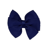 Bella Plain Colour School Uniform Hair Bow Hair Accessories 6cm PinkBerry Kisses - Navy Blue
