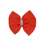 Bella Plain Colour School Uniform Hair Bow Hair Accessories 6cm PinkBerry Kisses -Neon Orange