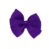 Bella Plain Colour School Uniform Hair Bow Hair Accessories 6cm PinkBerry Kisses - Purple