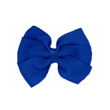 Bella Plain Colour School Uniform Hair Bow Hair Accessories 6cm PinkBerry Kisses - Royal Blue