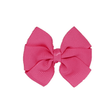Bella Plain Colour School Uniform Hair Bow Hair Accessories 6cm PinkBerry Kisses - Shocking Pink