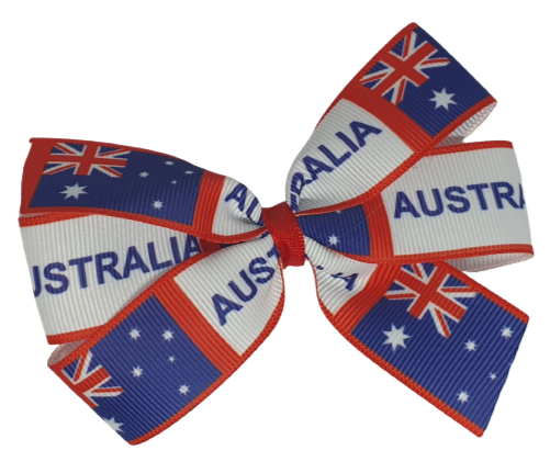 Sweetheart Hair Bow - Australia Day