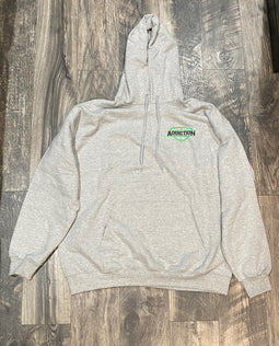 Addiction Pull Over Hoodie, Gray