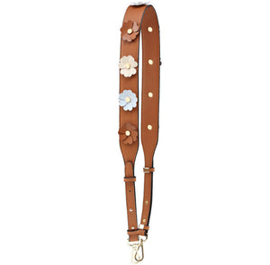 Flower Strap in Saddle