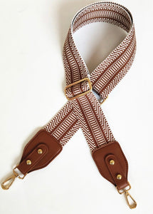Nylon Ribbon Strap in Saddle