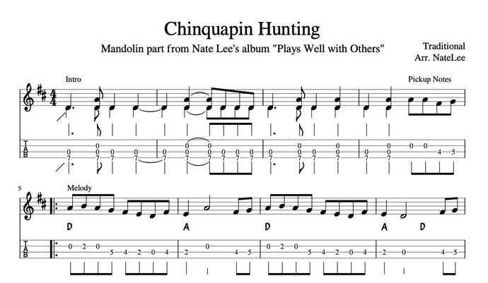 Chinquapin Hunting - Transcription (Notation & TAB)