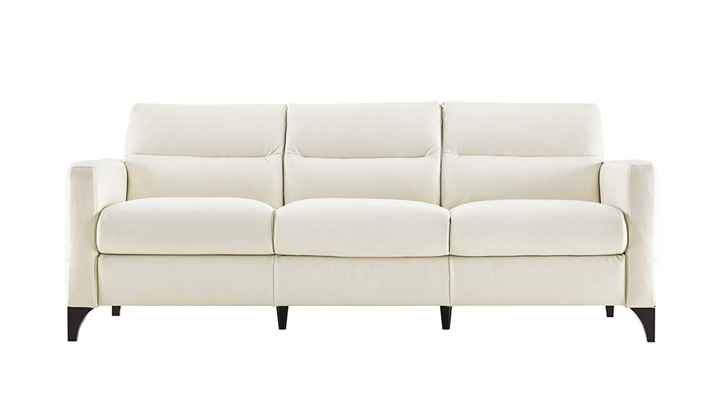 Natuzzi Isacco Cream Leather Stationary Sofa Review