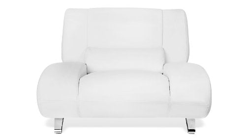 Zuri Furniture Modern Aspen White Microfiber Leather Chair