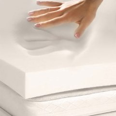 Full/Double Size 4 Inch Thick, 4 Pound Density Gray Visco Elastic Memory Foam Mattress Pad Bed Topper Made in The USA