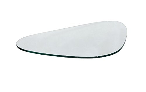 "MLF Triangle Coffee Table Top, Glass Only. Safe 3/4"" Tempered Glass & Square Honed Edge."