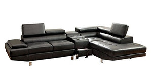 GREATIME Modern Sectional Sofa, Black