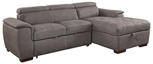 HOMES: Inside + Out IDF-6514BR-SEC Crowley Sectional Recliner, Brown