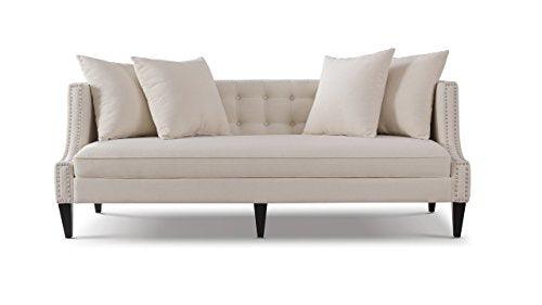 Jennifer Taylor Home 63013-3-970 Sofa, Sky Neutral