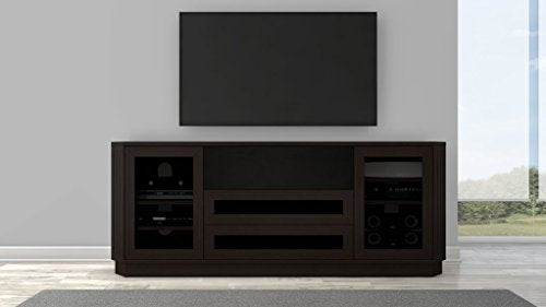 "Furnitech 78"" Transitional TV Console in a wenge finish"
