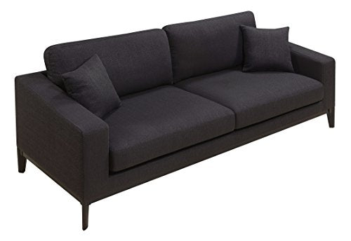 Elle Decor Olivia Sofa, Fabric, Charcoal