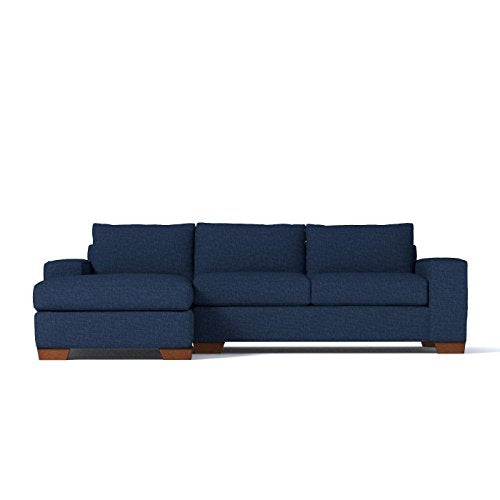 Melrose 2-Piece Sectional Sofa, Navy, LAF - Chaise on Left