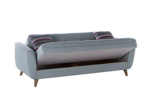 ISTIKBAL Multifunctional Furniture NORA Collection Light Blue SOFA SLEEPER