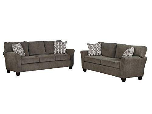 Amado 2PC Sofa & Love Seat in Grey Fabric
