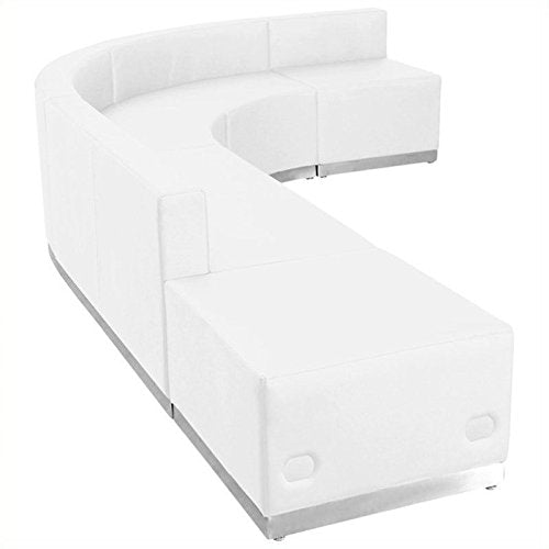 Pemberly Row 5 Piece Reception Seating in White
