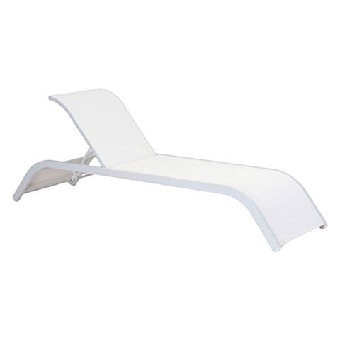 Zuo Modern Sun Beach Chaise Lounge, White