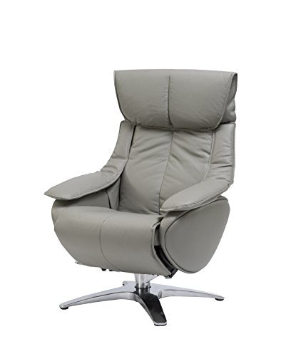 Vienna Collection OTTO-ML80007-CH Mac Motion Grey Top Grain Leather Otto Recliner, One Size