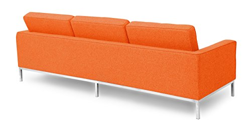 Kardiel Florence Knoll Style Sofa 3 Seat, Cinnabar Houndstooth Twill