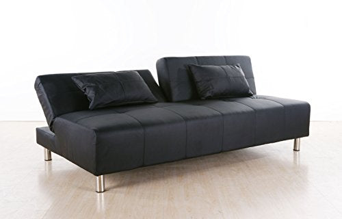 Gold Sparrow Atlanta Convertible Sectional Sofa Bed, Black