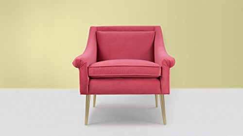 Sandy Wilson Home S60150-944 Eryk Accent Chair, Garnet Rose
