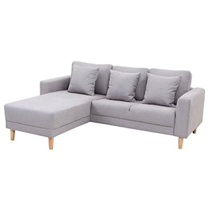 Stateville Mid-Century Bohemia Modern Sectional Sofa Fabric Small Space Configurable Couch