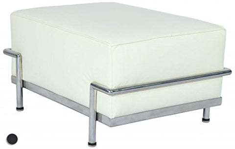 Stylesimo LC3 Ottoman/Stool in Top White Italian Leather