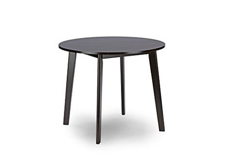 Baxton Studio Debbie Mid-Century Round Dining Table, Dark Brown