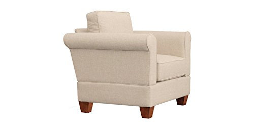 Furniture For Living F1L1-ALA Gregory RTA Arm Chair, Alabaster
