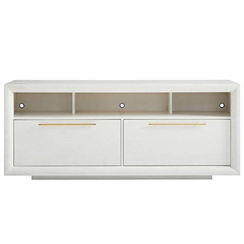 Stanley Furniture Panavista Panorama Media Console in Alabaster