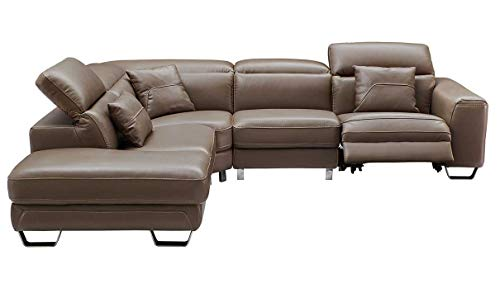 468 Modern Left Hand Facing Sectional Sofa in Brown
