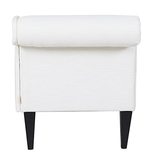 Jennifer Taylor Home 62020-879 Harrison Chaise Lounge, White