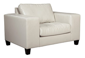 Ashley Furniture Signature Design - Nokomis Contemporary Chair and a Half - Arctic
