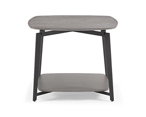 Whiteline ST1407-GRY Mavis Side End Occasional/Modern Table, Medium/One Size, Gray