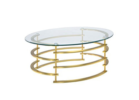 247SHOPATHOME IDF-4359GL-C Challis Coffee Table, Gold