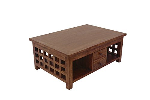 NES Furniture NES Fine Handcrafted Furniture Solid Teak Wood Java Coffee Table - 35""