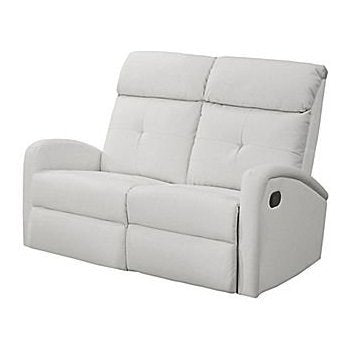 Monarch Specialties I 84WH-2 Reclining Loveseat in White Bonded Leather