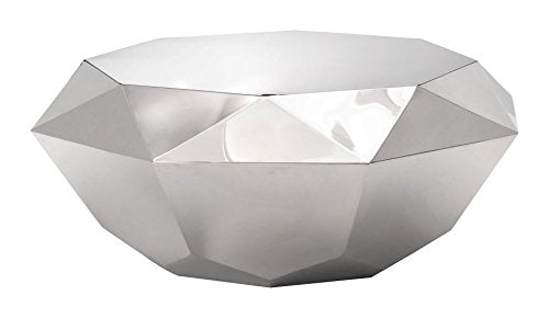 Zuo Gem Coffee Table, Stainless Steel