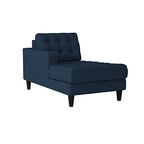 Modway Empress Mid-Century Modern Upholstered Fabric Left-Arm Chaise Lounge In Azure