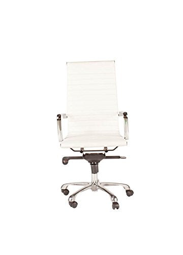Castle Designs 2 Omega White High Back Office Chairs