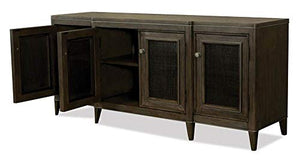 Entertainment Console in Carbon Gray Finish