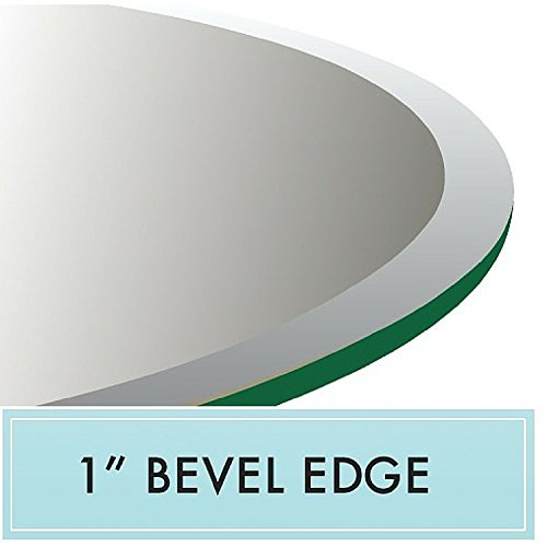 "42"" Round Clear Tempered Glass Table Top 1/2"" Thick 1"" Beveled Edge"