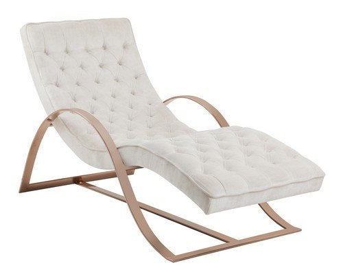 "Sunpan Modern Palais Chaise with Bella White Fabric, 66"" x 29"""